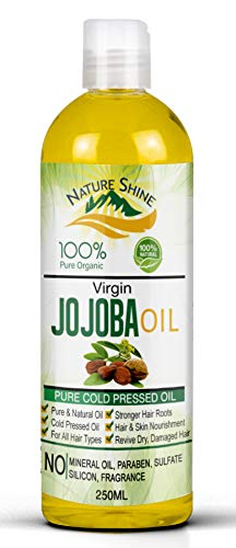 Nature Shine Jojoba Golden Certified Organic Oil Cold Pressed 250ml...