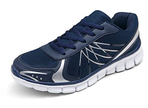 VEPOSE Women's 05 Running Shoes Navy AthleticWalking Mesh Tennis Gym Shoes Fashion Sports Sneakers Size 10(CJY605 Navy 10)