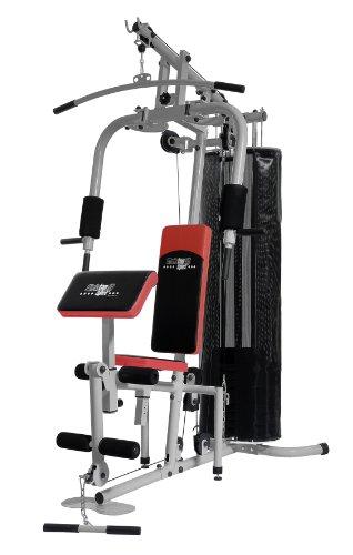 Christopeit Multistation Fitness-Station SP 20 XL, schwarz/weiß/rot, 145 x 115 x 200 cm, 1386
