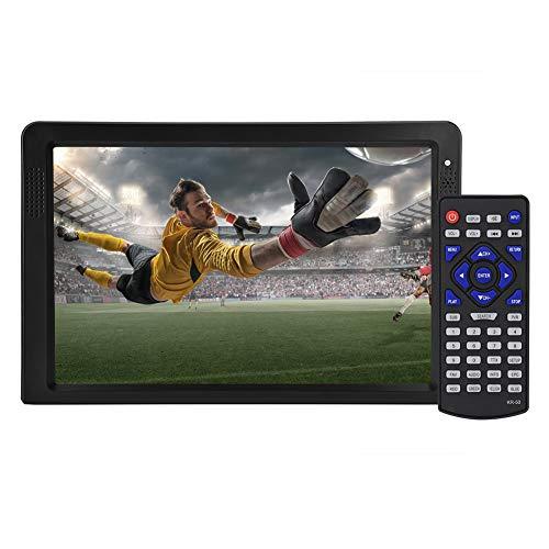 FOSA Televisión Portátil,Soporte SD/MMC y Puerto USB PVR, Televisión Digital Grabadora de Resolución 1280 * 800, Soporte y Cargador Coche 12V para Usos Exteriores(Negro)