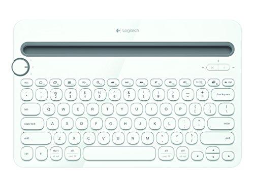 Logitech K480 Kabellose Bluetooth-Tastatur für Computer, Tablet und Smartphone, Multi-Device & Easy-Switch Feature, Kompaktes Design, PC/Mac/Tablet/Smartphone, Französisches AZERTY-Layout - weiß