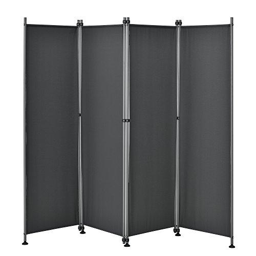 [pro.tec] Outdoor Trennwand - 170 x 215cm - Paravent Sichtschutz Spanische Wand Garten Grau