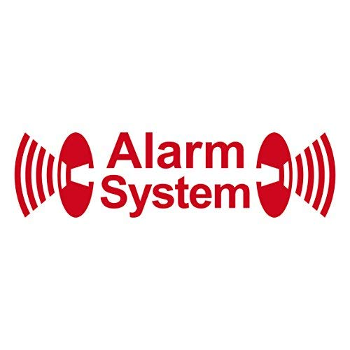 GreenIT 2 Stück rot Alarm System Aufkleber die Cut Tattoo Folie gespiegelt innenklebend
