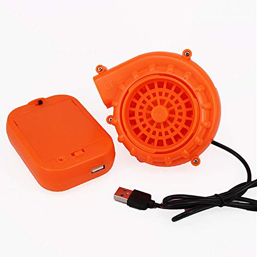 Kiddale Originals Fan Mini Fan Blower for Dinosaur Costume Doll Mascot Head or Other Inflatable Game Clothing Suits,Orange(Upgraded Version)