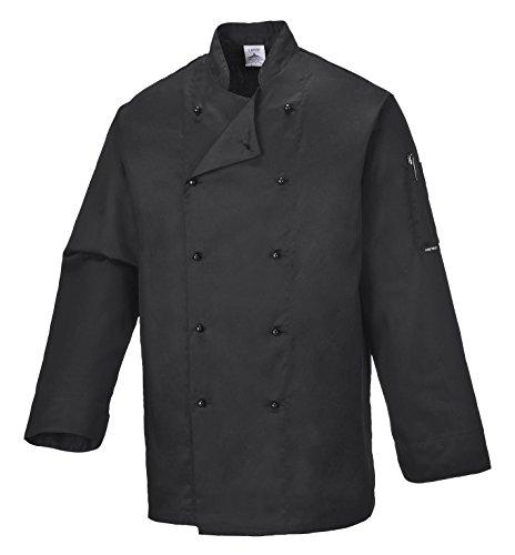 Portwest C834BKRM Giacca da Chef Somerset, Nero, M