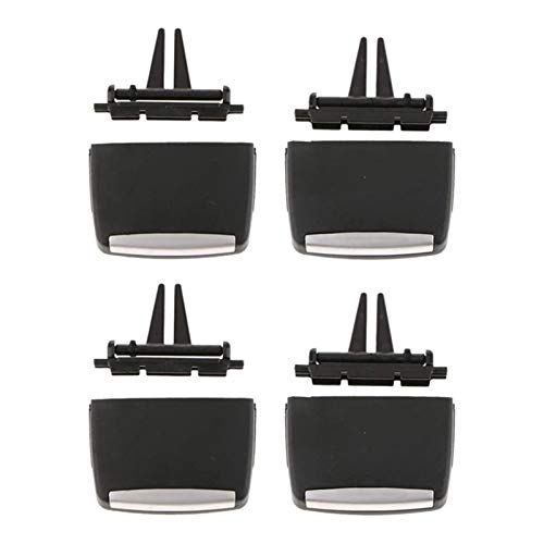 zhuzhu 4pcs Air Vent Outlet Tab Clip Front & Trasero Fila Fresca Aire Grille Clips FIT FOR-BMW X5 E70 2006-2012 x6 E71 2008-2013 (Color : Black)