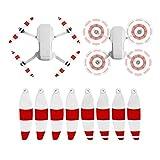 iEago RC 2 Paires 4726F Hélice de Couleur à Faible Bruit Lames à Dégagement Rapide CW CCW pour DJI Mavic Mini Drone Quadcopter Accessoires (Couleur de l'hélice - Blanc Rouge)