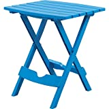 Adams Manufacturing Quik-Fold Side Table in Pool Blue