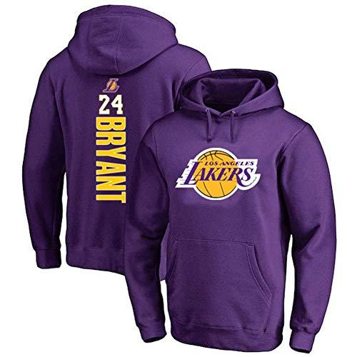 HANJIAJKL Basketball Hoodie NBA Lakers 24# Kobe Bryant Youth Männer Pullover,Fashion Basketball Sports Sweatshirt Tops,Purple b,L