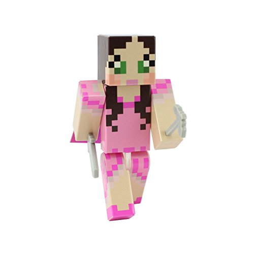 EnderToys Pink Dress Green Eyed Girl 4 Inch Action Figure