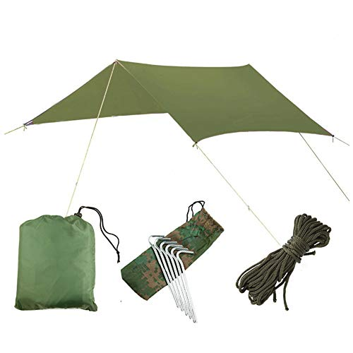 Outdoor Multifunctional Canopy Waterproof And Sunscreen Beach Pergola Sunshade Tent Light And Moisture Proof Mat And Floor Covering Suitable for Outdoor And Hiking Traveling Green