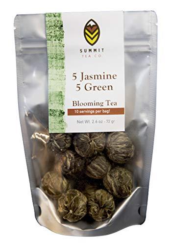 10 Blooming Flower Tea - 5 Jasmine and 5 Green