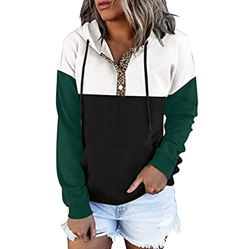 Eduavar Shirts for Women Graphic Tees Women's Causal 1/4 Zip Pullover Long Sleeve Collar Sweatshirts Solid Activewear Running Jacket