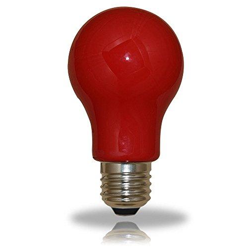 LED Leuchtmittel Birnenform 3W = 25W E27 ROT Innen- & Außenbereich Party
