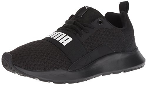 PUMA Men's Wired Sneaker, Black Black Black, 12 M US
