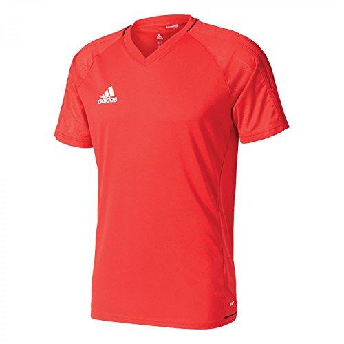 adidas Tiro 17 Training Jersey Camiseta de Tenis, Hombre, Rojo (Escarl Negro Blanco), S