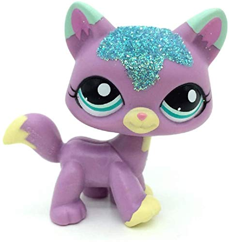 Greneric LPS Toy Rare LPSs Toys Purple & Pink Wolf Fox Blue Eyes Cat Littlest Pet Shop