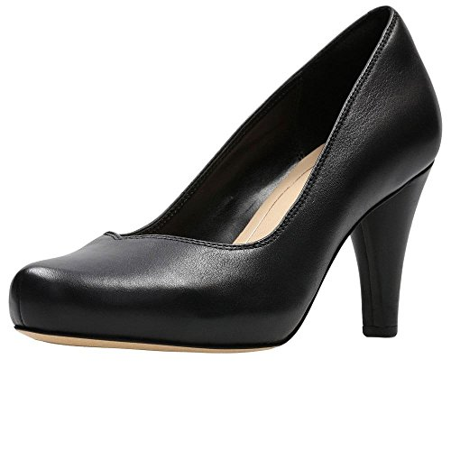 Clarks Damen Dalia Rose Pumps, Schwarz (Black Leather), 40 EU