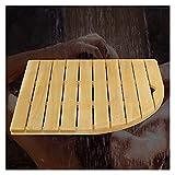 ZENGAI Pedal De Bambú para Baño Y Ducha, Antideslizante Rejilla De Madera Tarima De Baño Ducha De Madera con Asa, 4,2 Cm De Grosor, Personalizable (Color : Brown, Size : 80cm(w) x110cm(l))