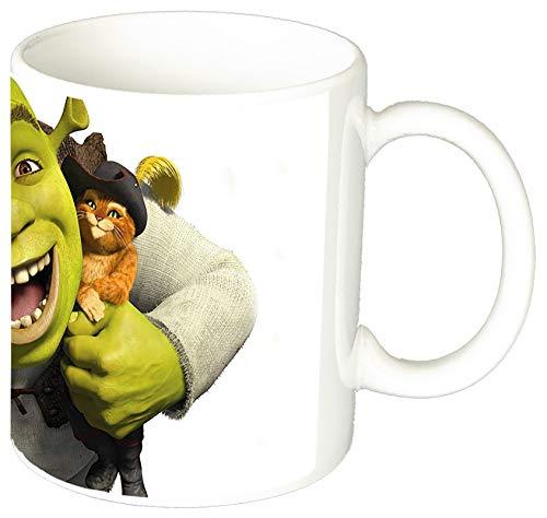 MasTazas Shrek Asno Y Gato con Botas Shrek Puss and Donkey Taza Ceramica