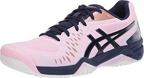 ASICS Women's Gel-Challenger 12 Tennis Shoes, 5, Cotton Candy/Peacoat