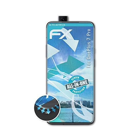 atFolix Schutzfolie kompatibel mit OnePlus 7 Pro Folie, ultraklare und Flexible FX Displayschutzfolie (3X)