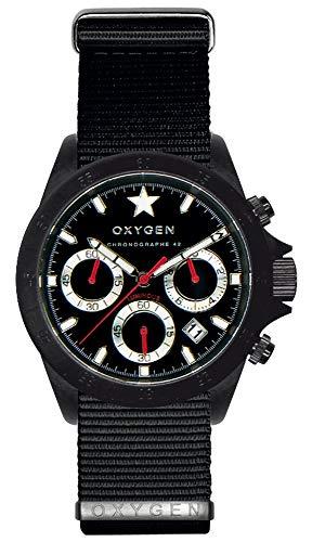 Oxygen Cronografo al Quarzo Orologio da Polso EX-C-REC-42-NN-BL