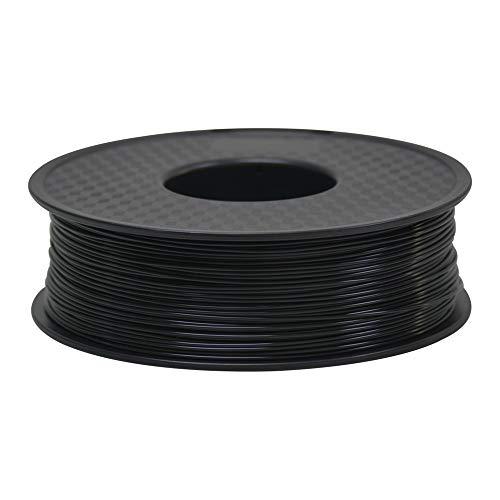 TEQStone Filament PLA 1.75mm für 3D Drucker und 3D Stift 1kg Rolle in Vakuumverpackung (Schwarz)