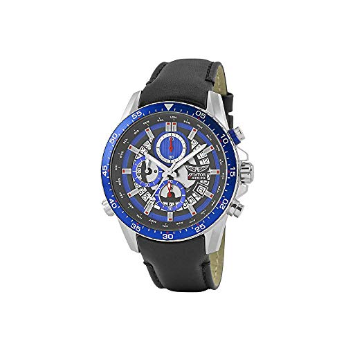 Aviator - Cronografo da uomo, AVW2122G325