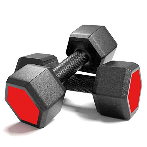 YBZS Neopren-Hantel,Dumbbell 1 Pair / 15Kg Hexagonal Fitness Dumbbell/Gummistoßdämpfung Fitness Werkzeug/Metall-Grifffestigkeit Zu Erhöhen