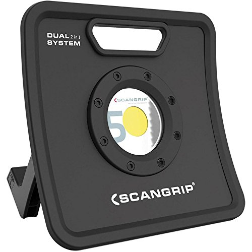Scanprip 815443 Scangrip-Foco Profesional de Trabajo Recargable-Nova 5K C+R-High Efficiency COB LED,...