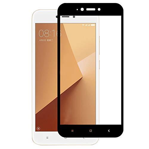 "TBOC Protector Pantalla 5D para Xiaomi Redmi 5A (5.0"") - Cristal Vidrio Templado [Marco Negro] Ultrafino Dureza 9H Antihuellas [Protección Completa] Resistente Golpes Rayaduras"