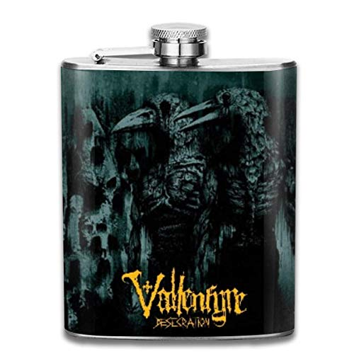 Edelstahlflasche Vallenfyre 7 Oz Stainless Steel Hip Flask Leakproof Flask, Pocket Flask Flasks For Liquor For Men Women Groommans Wedding Gift
