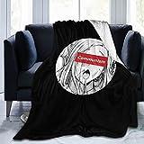 A-Hegao - Manta de forro polar ligera y cómoda para invierno, para dormitorio, sala de estar, 152 x 150 cm