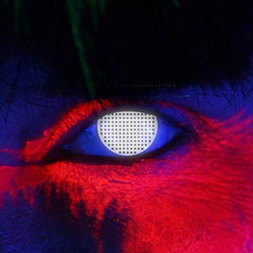 Funky Vision Kontaktlinsen I-Glow - 12 Monatslinsen, White Screen UV, Ohne Sehstärke, 1 Stück