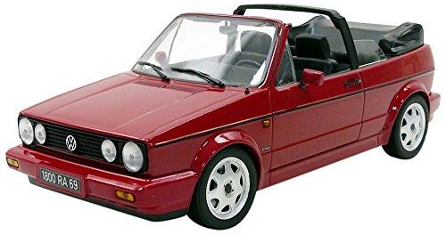 Norev – Miniatur Auto Volkswagen Golf 1 Cabrio Classic Line 1992 Maßstab 1/18, 188405, rot