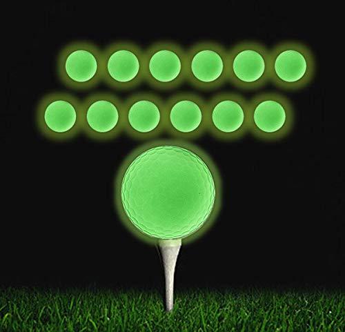 Qboso Golfbälle, die im Dunkeln leuchten, wiederaufladbar, für mehr Spaß in der Nacht und für jeden Schuss, 12 Stück