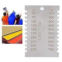 50〜750umの範囲の布バッグウェットフィルムコーム、測定ツールコームゲージ、長方形の両面ワーカーで、ペイントウェットフィルムコーティングの厚さを測定