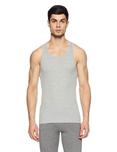 Macroman M Series Men's Cotton Vest (8903978238609_M121_Grey Melange_L)