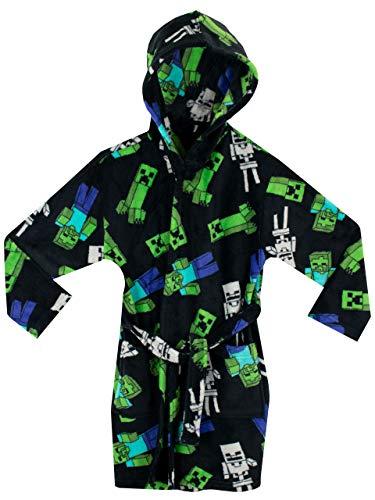 Minecraft Boys' Creeper Robe Black Size 8