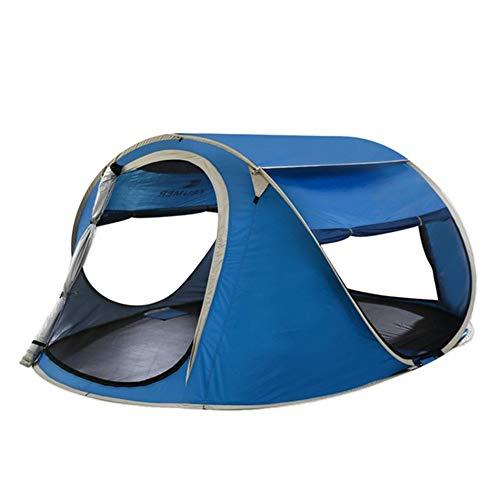 TRF Pop-Up-Zelt 3-4 Personen, Strand Sun Shelter mit Panorama-Dachfenster - große Kapazitäts-UV50 + Sonnenschutz atmungsaktive wasserdichte - für Camping Fishing Park,Royal Blue