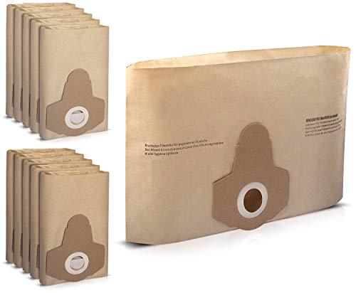 10 x Staubsaugerbeutel passend für alle Einhell 20 Liter Nass-Trockensauger | Staubsaugerbeutel/Filtertüten | von Omixberg