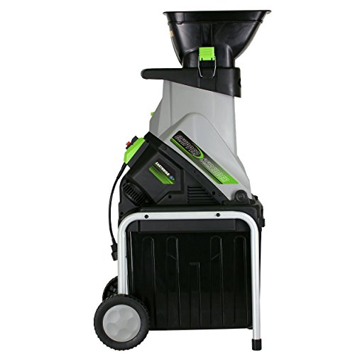 Earthwise GS70015 Electric Garden Chipper/Shredder with Collection Bin, 15-Amp