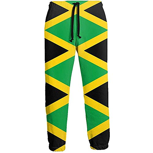 NA Jamaica Flag Herren Lange Jogginghose Workout Outdoor Sporthose 3XL