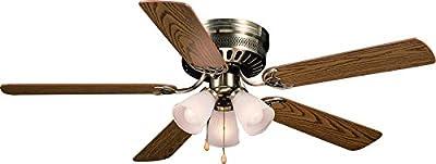 Hardware House LLC 23-8434 Bermuda Ceiling Fan, Antique Brass