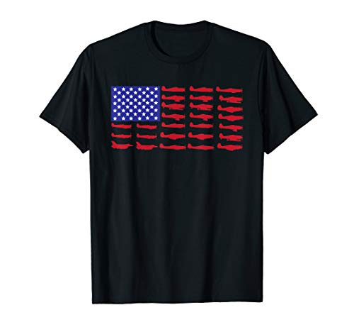 American Flag Aircraft 4th of July Airplane Patriotic Pilot T-Shirt