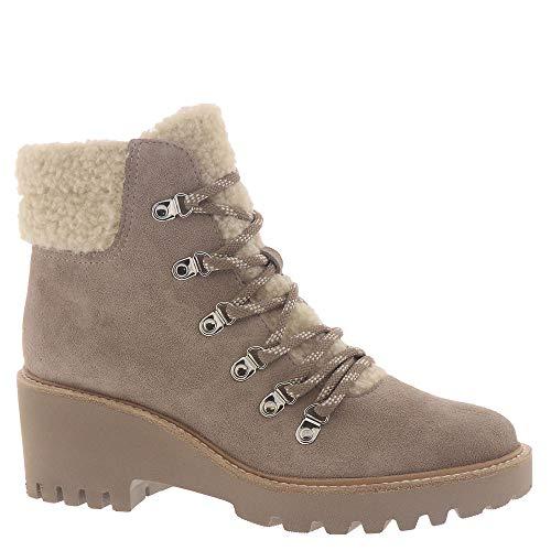 Dolce Vita Women's Utilitarian, Bootie, Boot, Sherpa Fashion, Almond Suede, 9.5