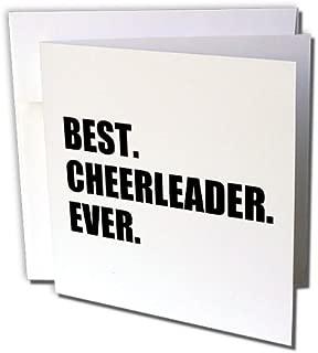 3dRose Set of 12 Greeting Cards, Best Cheerleader Ever (gc_179765_2)