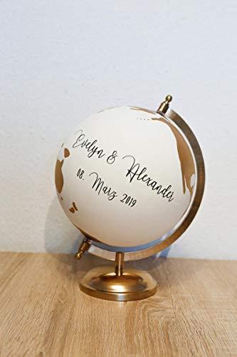 Gästebuchglobus Hochzeit Globus Gästebuch
