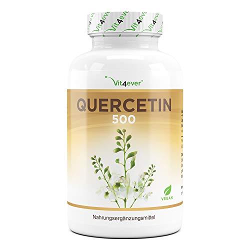 Quercetina - 500 mg - 120 Cápsulas - Suministro para 4 meses - Probado en laboratorio - Hecho naturalmente de extracto de flor de árbol de cordero japonés - Alta dosis - Vegano